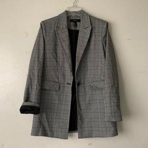 B&W plaid blazer